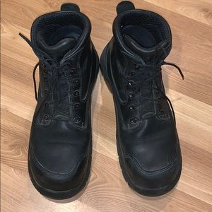 Red Wing work boots black leather size 12
